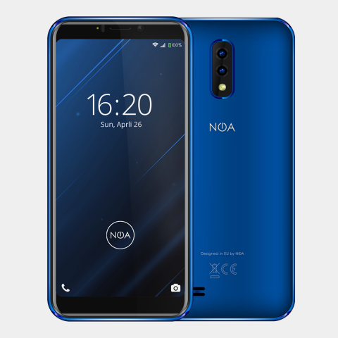 "Telefon Celular Noa Vivo 4G Quad Core 5.45"" Hd-Ips 18:9 1280*640 2Gb Ram 16 Gb Memory Android 8.1 2800 Mah Li-Ino Bettery Blue"