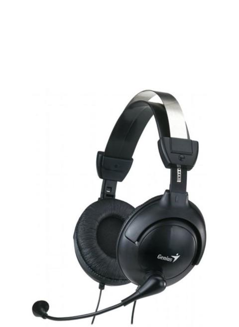 Genius Headset Full-Size Earcups Volume Control Hs-505X Black Sbeh0080