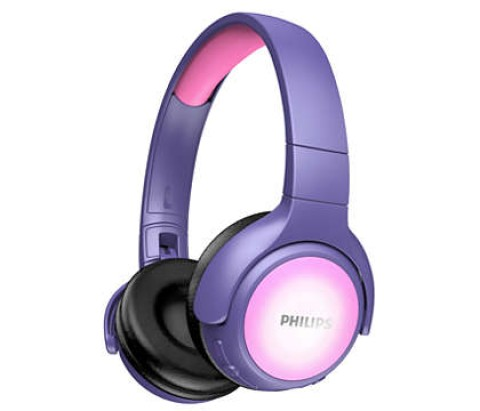 Kufje Kids Philips Takh402Pk/00 | Wireless Led Mic Pink