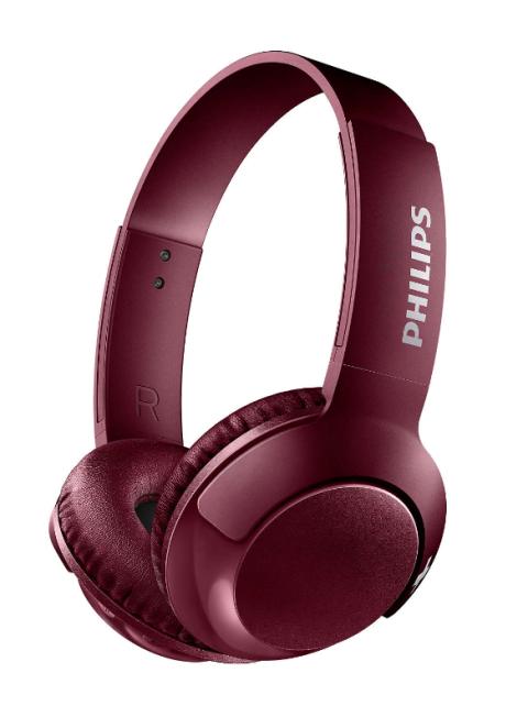 Kufje Philips Shb3075Rd/00 | Wireless Bass+ Mic Red