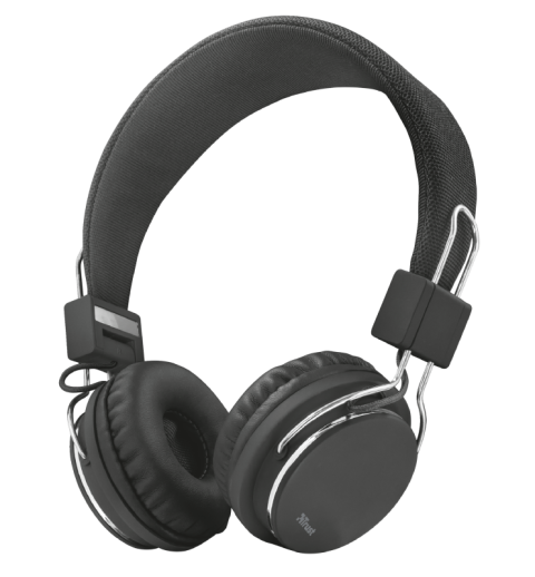 Trust Headphones Ziva Foldable For Smartphone And Tablet Black Sbeg2009