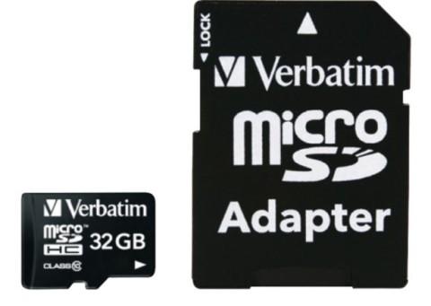 Micro Sd Me Adatper Verbatim 44083   32Gb Uhs-I Class10 80Mb/S Sebz0521