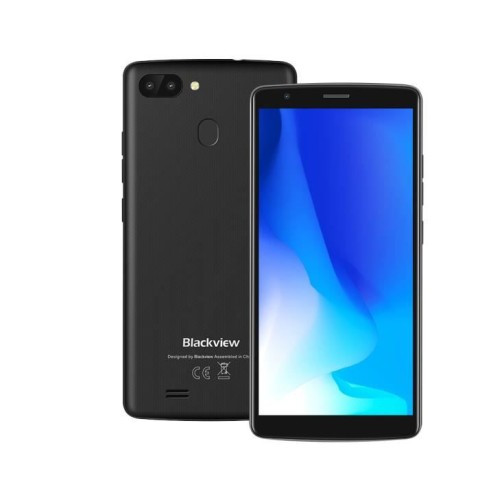 "Telefon Celular Blackview A20 Pro 4G 5.5"" Gray Quad Core 1.3 Ghz 2Gb Ram 16Gm Memory Dual Sim Android 8.1"